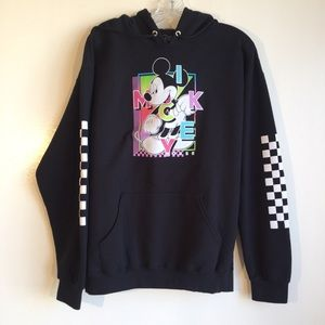 Disney black and white mickey mouse hoodie sz L